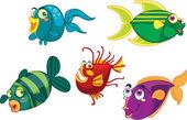 Peixes — Vetorial Stock