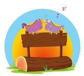 Birds singing — Stock Vector