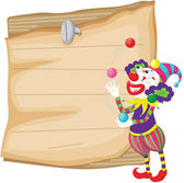 Clown and paper — Stock Vector