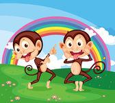 Monkeys — Wektor stockowy