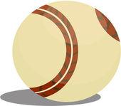 Illustration of ball on white — Stock Vector