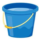 Clipart style cartoon of a bucket — Stock Vector