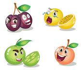 Fruit faces — Stock Vector