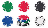 Casino chips — Stok Vektör