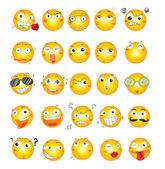 ícones de rosto sorriso — Vetorial Stock
