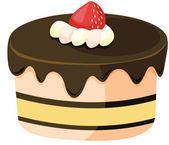 ケーキのクリップアートのスタイルの漫画 — ストックベクタ
