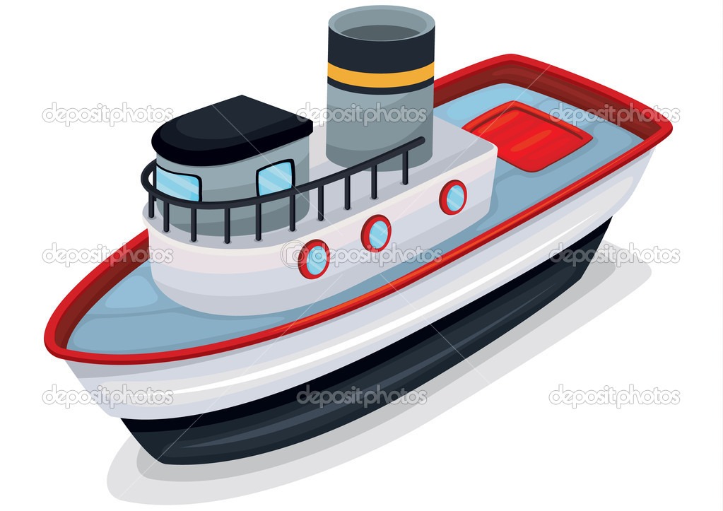 Illustration of ship on a white background — Stock Vector #9993557