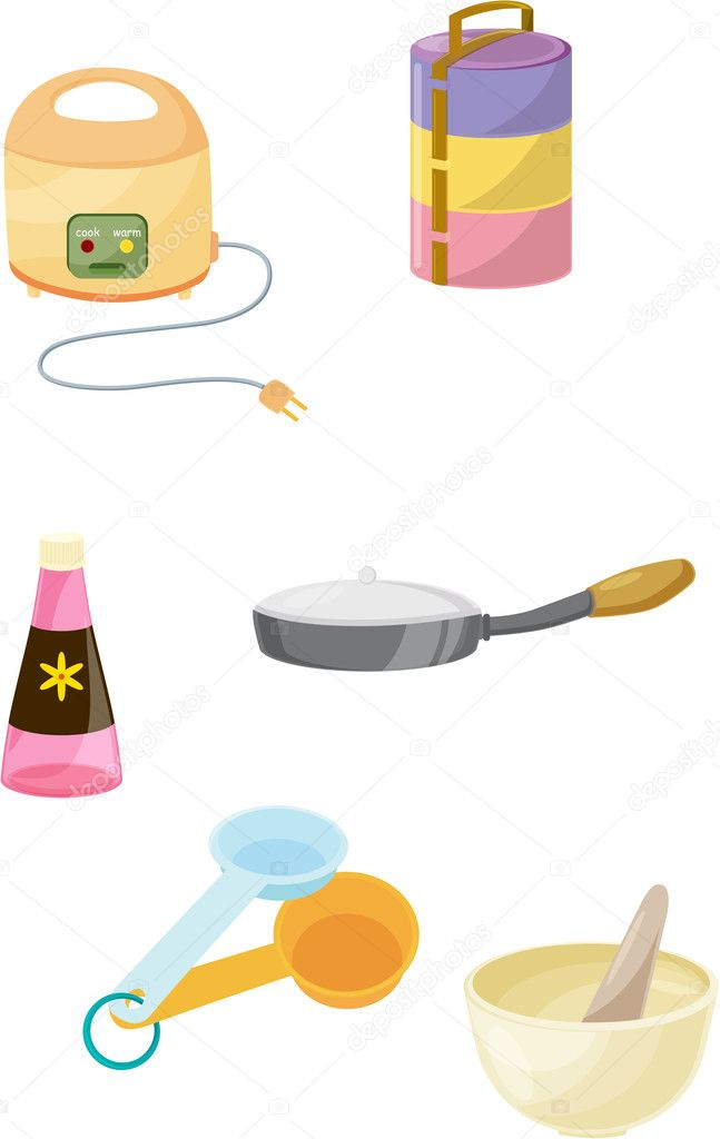 Illustration of various objects on white — Stock Vector #9993883