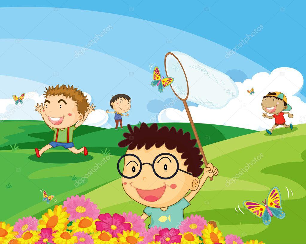 ловить бабочек картинки для детей