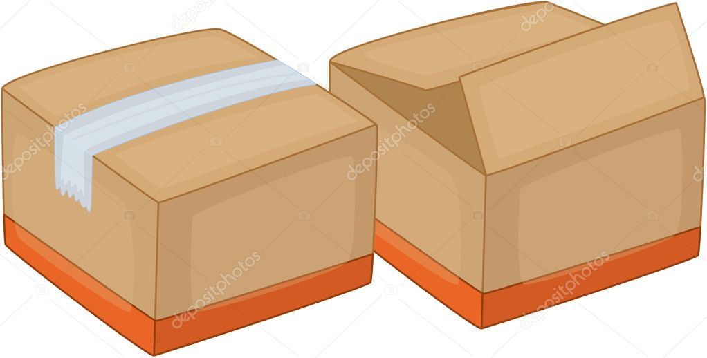 Illustration of packing boxes on white — Stock Vector #9994374