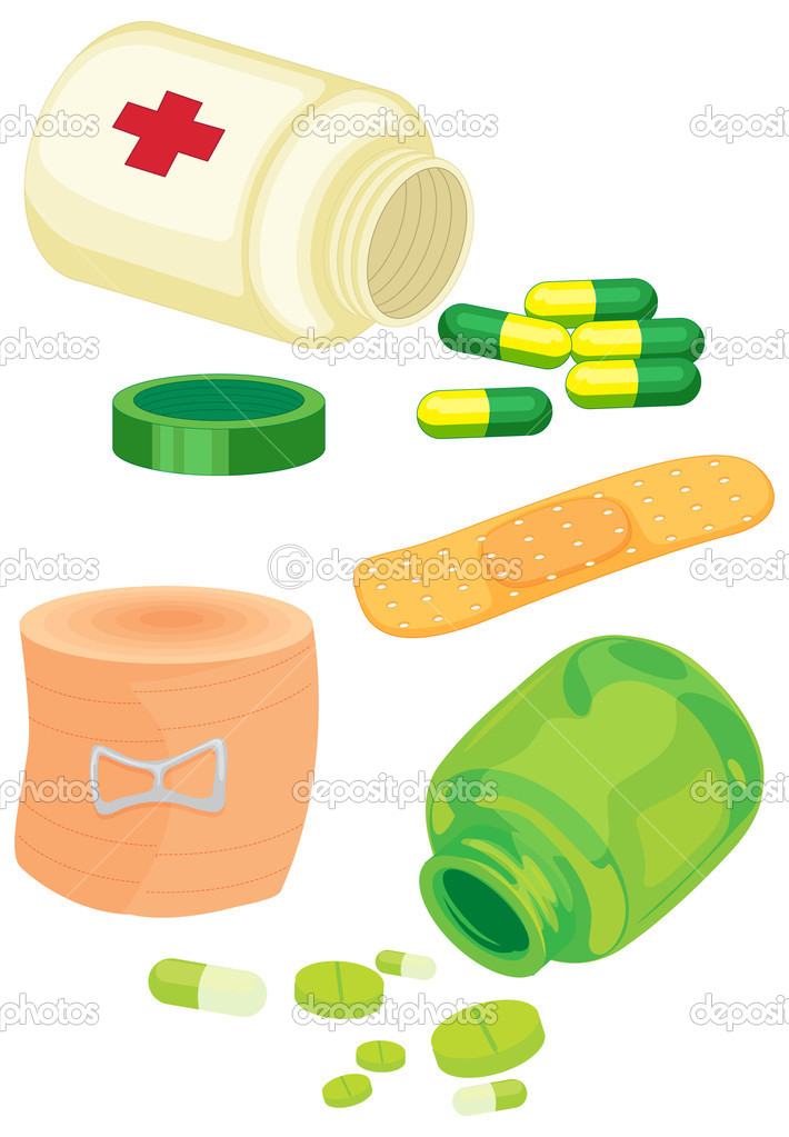 Illustration of various objects on white — Stock Vector #9994603