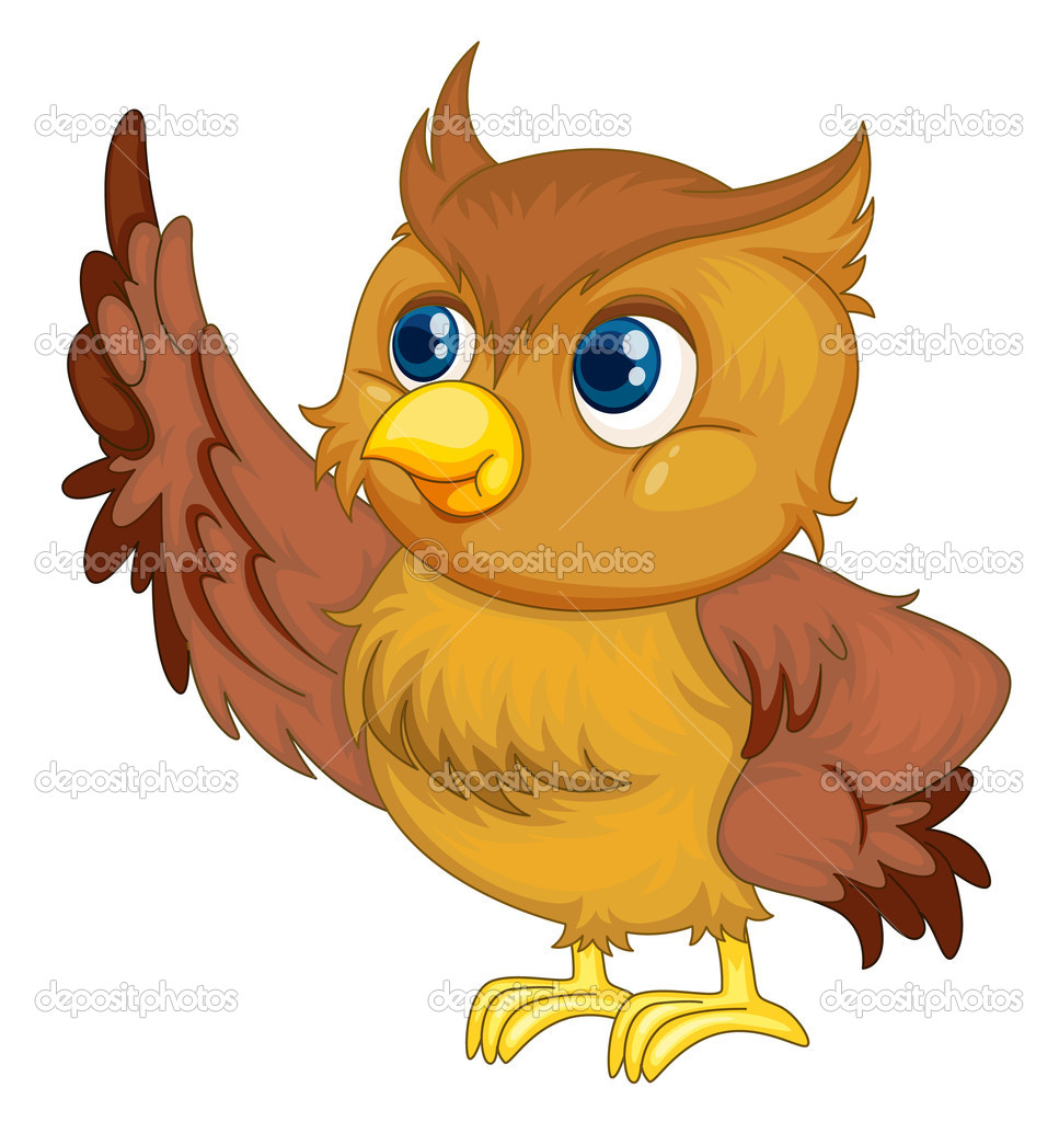 Illustration of an isolated owl cartoon — Stock Vector #9995751