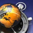 The World on Time — Stockfoto