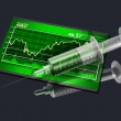 Stock Price Injection — Stock Photo