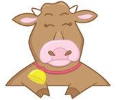Vaca alegre — Vetorial Stock