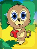 Kreskówka małpa — Wektor stockowy