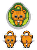 Cute Mewing Cat — Stock Vector