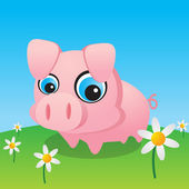 Cute Little Pig — Stock Vector