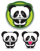 Cute Romantic Panda Bear — Stock Vector