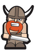 Angry Viking with a Sword — Stock Vector