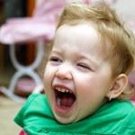 Baby crying — Stock Photo