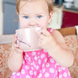 Baby drinking — Stock Photo