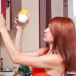 Woman getting out a jar — Stock Photo #10033531