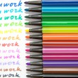 """teamwork"", written by different colors — Stock Photo #10056147"
