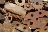 Ржавые металлические части — Стоковое фото