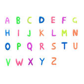 Colorful English alphabet — Stock Photo