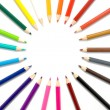 Stock Photo: Color pencils frame