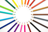 Color pencils frame — Stock Photo