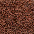 Grated dark chocolate — Stock Photo