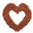 Heart-shaped frame, made of chocolate — Stock Photo
