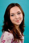 Smiling brunette teen girl — Stock Photo