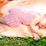 Cute baby girl sleeping — Stock Photo #9928544