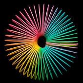 Multi coloured rainbow spring — Stock Photo