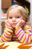 Little bored child is thinking about life — Stock Photo
