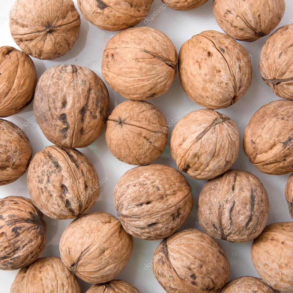 Walnuts as a background — Stock Photo #9934112