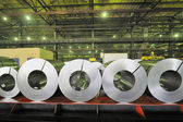 Rolls of steel sheet — Stock Photo