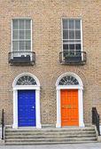 Georgian doors — Stock Photo