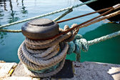 Harbor mooring — Stock Photo