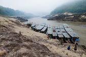Stazione di barca pakbèng, laos — Foto Stock