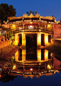 Japanese Bridge in Hoi An at night, Vietnam — Stock Photo