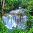 Deep forest Waterfall in Kanchanaburi, Thailand — Stock Photo #9939041
