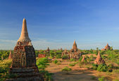The Temples of bagan at sunrise, Bagan, Myanmar — Stock Photo