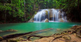 Panorama of Erawan Waterfall, Kanchanaburi, Thailand — Stock Photo