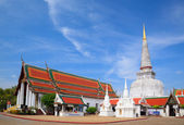 Ancient Pagoda in Wat Mahathat temple, Nakhon Si Thammarat ,Sout — Stock Photo