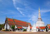 Ancient Pagoda in Wat Mahathat temple, Nakhon Si Thammarat ,Sout — Stock Photo