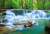 Deep forest Waterfall, Kanchanaburi, Thailand — Stock Photo